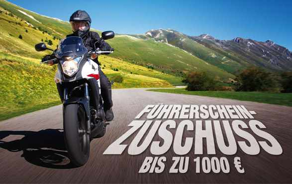 bis zu 1000 f hrerscheinzuschuss honda motorradhaus. Black Bedroom Furniture Sets. Home Design Ideas