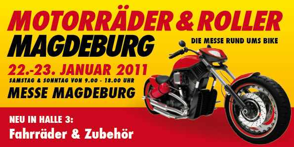 motorrad roller magdeburg 22 23 januar honda. Black Bedroom Furniture Sets. Home Design Ideas